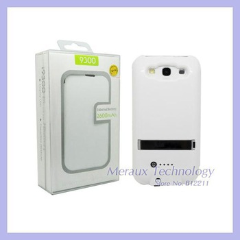 2600mAh portable charger power pack battery case for Samsung Galaxy S3 i9300 leather case