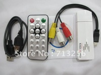 free shipping USB Digital & Analog TV Receiver stick Tuner w/ Remote for laptop