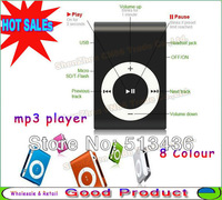 Wholesale 3in1 Mp3 Clip MP3 Player, USB, Earphone, Support 1 - 8GB TF Card For Best Christmas Birthday Gift Free Shipping