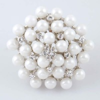pearl round classic brooch  pin 2 colors NB-064 Neoglory Jewelry Beauty Paradise@Rihood Trading with Austrian rhinestones  2013