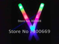 customize logo fee shipping  led foam glow stick printting logo