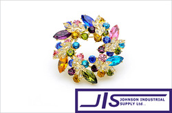 $ 100% Brand New! High Quality,Beautiful Round Heart-shaped Style Crystal Jewelry Pin Brooch, $14.99/Order(Hong Kong)