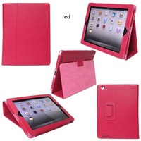 40pcs/lot  free shipping practical PU Leather Case Cover Stand case For The new ipad /ipad 3