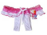 Free shipping Sexy briefs open crotch bowknot Sexy secret gatring Thong Pantes sensual couture Lace briefs sexy linggerie