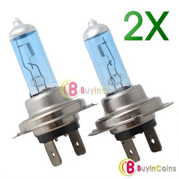 High Quality 1Pair H7 HID Halogen Auto Car Head Light Bulbs Lamp 6500K # 2983