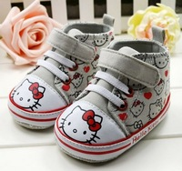 Wholesale 6 pairs\lot 2012 New Mothercare Prewalker Infant Baby Shoes Girls Toddler Shoes baby hello kitty soft sole136-138