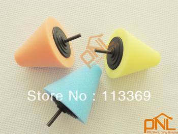 3PCS New Professional Foam Pad/ Sponge Cone Metal Polishing Tool Set/Polishing pad