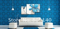 oil painting canvas Blue Flower modern decoration high quality handmade home office hotel wall art decor New Gift free shipping