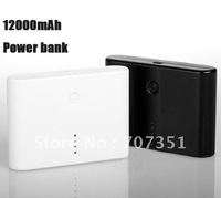Free shipping 12000mAH dual USB pack Power Bank Universal External Battery for iPhone 4 for 4s for iPad!