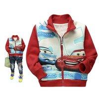 Free shipping Cartoon children outwear boy cartoon flocking Jacket kids zipper coat winter wear 6 pcs/lot