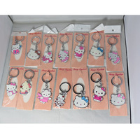hello kitty key chains different designs fashion keychain 50pcs/lots Free Shipping