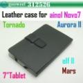 Кожаный чехол для 7inch tablet pc для ainol novo7 Аврора II /Elf II / Торнадо / Марс саанена N77 Freeshipping + Drop-shi