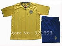 Sweden yellow  soccer jersey