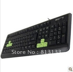 Durable waterproof keyboard The game cable keyboard USB interface keyboard(China (Mainland))
