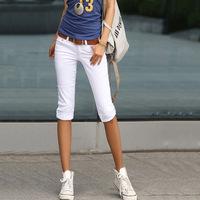 2014 New Fashion pants & capris Summer Autumn Korean Slim fit elastic Cotton Capris Trousers pants women free shipping LJ059