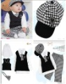 2012 New Classic Fashion boys Gentleman autumn clothing Sweater track suit with hats   5sets/lot  Free shipping
