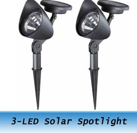 Freeshipping 50PCS Garden light 3-LED Solar Lamp Led solar lawn light(China (Mainland))
