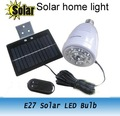 Freeshipping 10PCS E27 Solar lamp bulb AC power supply LED bulb Light White Remote