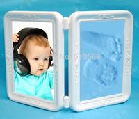 DIY photo frame make Baby handprint  footprint set baby gift picture frame