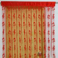 Musical Note Tassel String Door Curtain Window Room Divider - Red