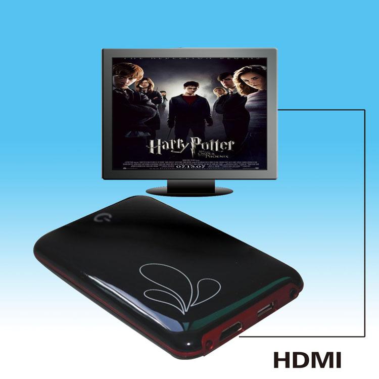 1080P Full HD Media Player 2.5 SATA RM RMVB MKV H.264 VOB DIVX With HDMI Port(China (Mainland))