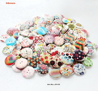 (100pcs/lot) mixed assortment wooden buttons crafts and scrapbooking rings decor  wood sewing button 30mm-ZH10