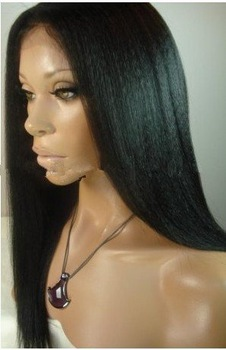 Best Price!! yaki straight Fashion beautiful Brazilian remy human hair front lace wig & Full lace Wigs Glueless