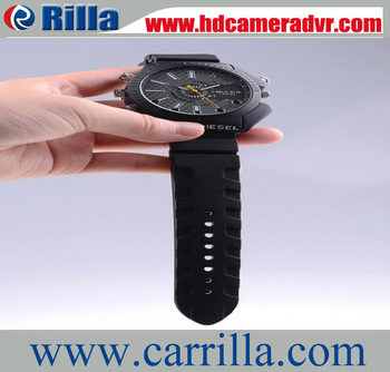 2013  Hot Sale 1920*1080P HD Waterproof  Hidden Cam Watch  With retail box 1pcs free shipping (RA-W3000)
