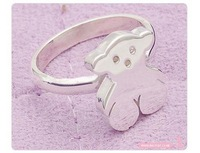 5pcs/lot fashion silver bear pinky ring finger ring fahion jewelry (4.5)R0766