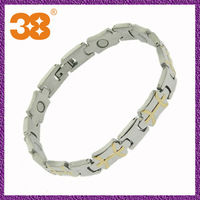 2012 new style stainless steel magnetic fashion bracelet engraved stainless steel magnetic bracelet