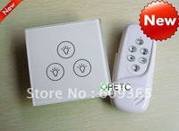 3gang remote control wireless intelligent touch switch with LED indicator