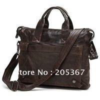 Vintage Leather Men's Dark Coffee Messenger Bag Shoulder Bag Briefcase Laptop #7120C