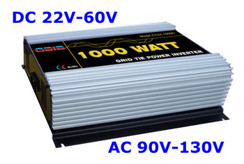 1000W Micro Grid Tie Inverter MPPT solar power DC 22V~60V to AC 90V~130V (for 100V 110V 120V)  FREE SHIPPING