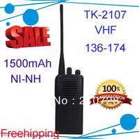 2pcs DHL freeshipping TK-2107 VHF 136-174MHz portable Two Way Radio Walkie Talkies