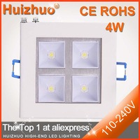 [Huizhuo lighitng] Free shipping High quality NEW 4*1W led ceiling light,Warm white /White led grille