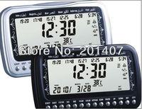 Brand new  promation Full Azans 1500 cities  Al fajir azan table  clock  black silver avaiable free shipping cost