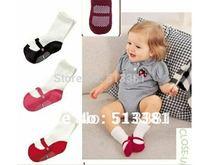 Free Shipping 9pairs/lot Fashion Baby Shoe Socks/Baby Footwear or Footgear/Floor Socks Anti-Slip CottonToddler Socks
