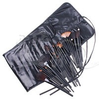 DHL Free Shipping 32 pcs/set Makeup Brush Kit Makeup Brushes + Black Leather Case, 10set