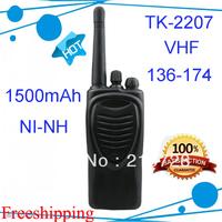 2pcs/lot DHL freeshipping TK-2207 TK2207 Walkie Talkies Portable 2 way radio 136-174MHz