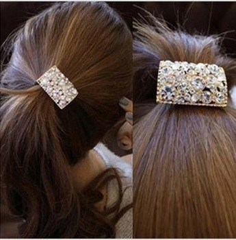 Free shipping!1129Wholesale !Noble!High Quality ! Rhinestone Crystal wedding Hair band hair circle hair accessories