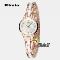 1pc Kimio watch Women 2012, Japan Quartz imitated ceramic watch for lady,FREE SHIPPING