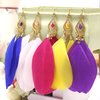 2012 Pop Exotic emotional appeal , multicolor natural feather earrings ,12pieces/lot(6pairs/lot)(China (Mainland))