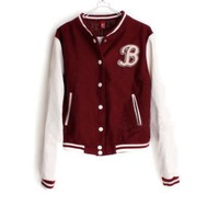 Free shipping women's scrub face faux leather Women baseball clothes outerwear short jacket