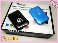 2012 Wholesales NBOX RMVB RM MP3 AVI MPEG Divx HDD TV USB SD Card Media Player Remote,Connects to TV for whole family to enjoy