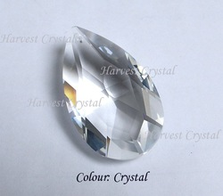 100% Quality Guaranteed 63mm Clear Colour K9 MC Crystal Almonds(top hole)(China (Mainland))