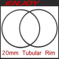 700c road bike carbon rims 20mm tubular, light weight, free shipping~!