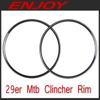 Full carbon 29er mtb clincher rims, model ECM29C, free shipping~!!!