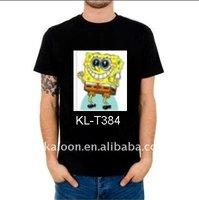 sponge bob sound active equalizer flashing el led shirt