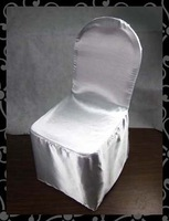 Free shipping  satin  Chair Cover with  white
