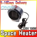 Mini Portable Personal Ceramic Space Heater Electric 220V/100W Fan Forced Grey Free shipping